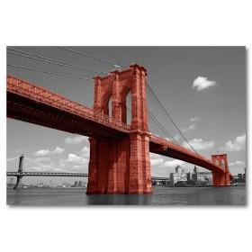 Αφίσα (Μπρούκλιν, γέφυρα, Νέα Υόρκη, μαύρο, λευκό, άσπρο)